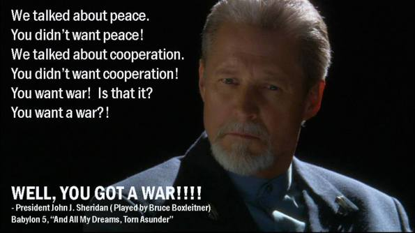 President Sheridan on War