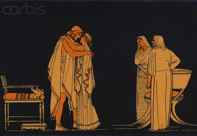 Original caption: The meeting of Ulysses and Penelope. --- Image by © Corbis