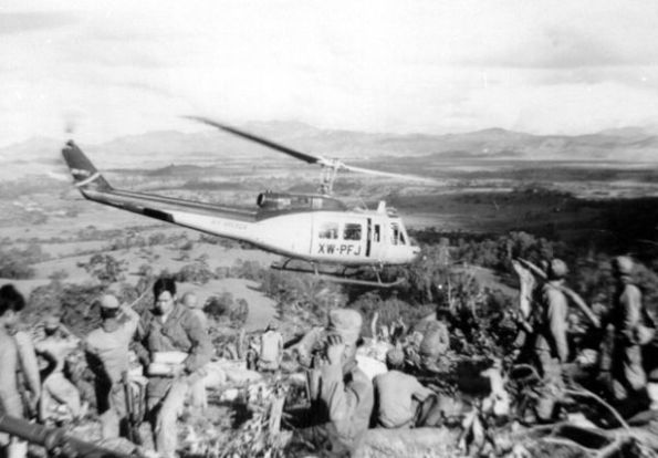 Air-America-Bell-205-helicopter-at-Hmong-FSB