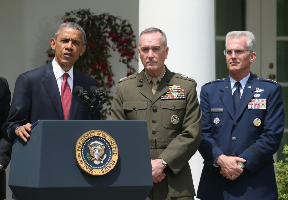 President Obama nominates Marine General as the next chairman of the Joint Chiefs of Staff and US Air Force General to be vice chairman,